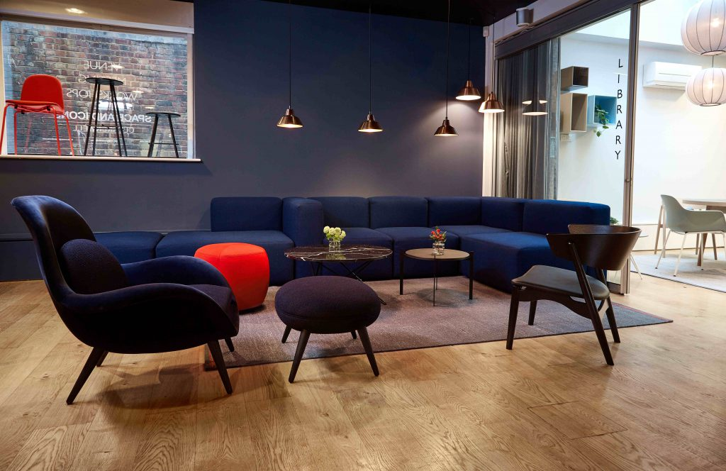 Cosy breakout area at Space and Icons