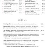 The Schoolhouse menu