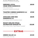 New Road Food Menu