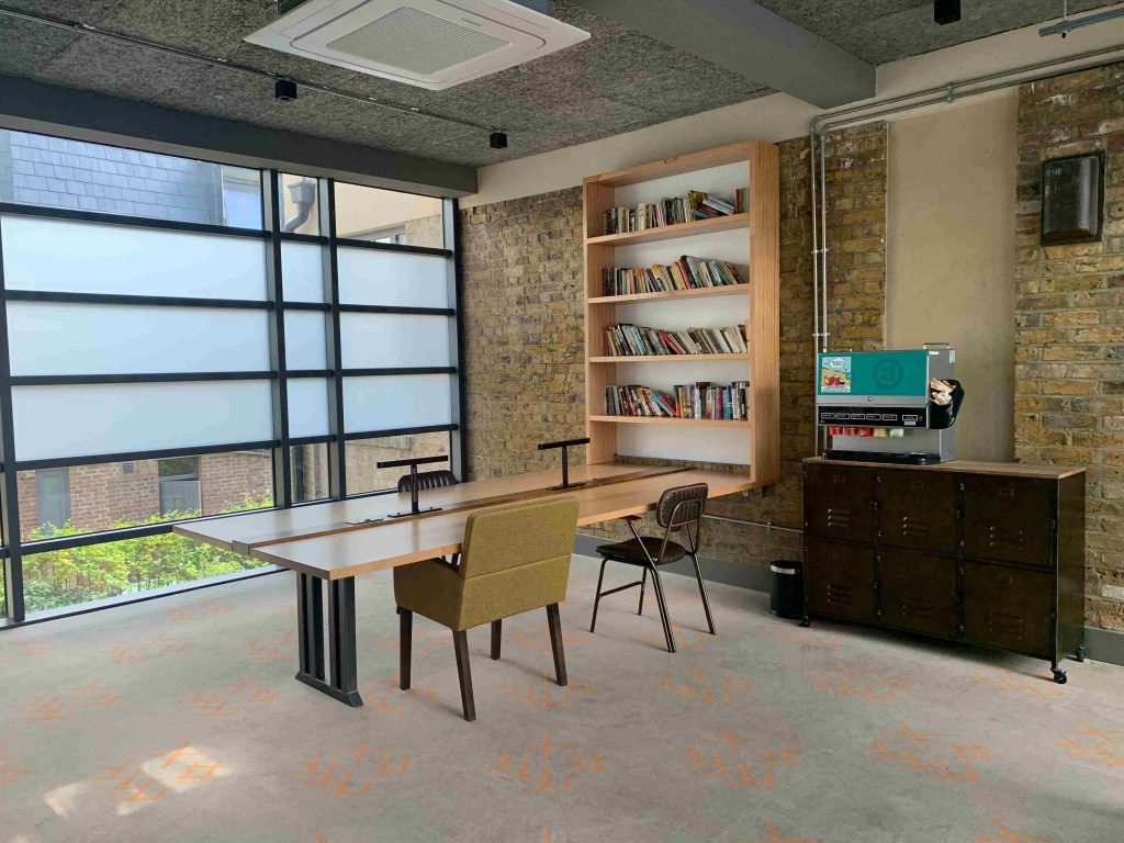 New Road Hotel premium semi-private coworking area