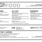 Dalston Superstore Lunch Menu