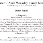 33 Abbeville road menu for lunch plates