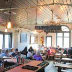 Hubbub Bar and Kitchen coworking area
