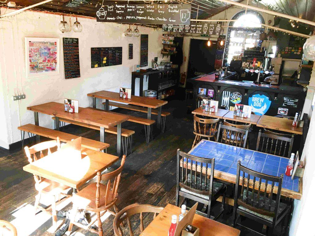 Hubbub Bar and Kitchen hot desk area