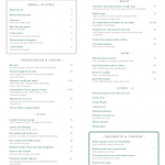 Sloane Place All day dinning menu