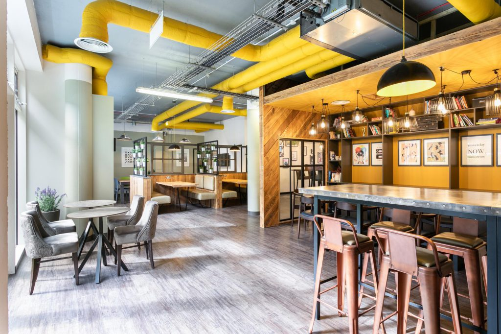 Moneypenny workhub hotdesking area located near Old Street in London