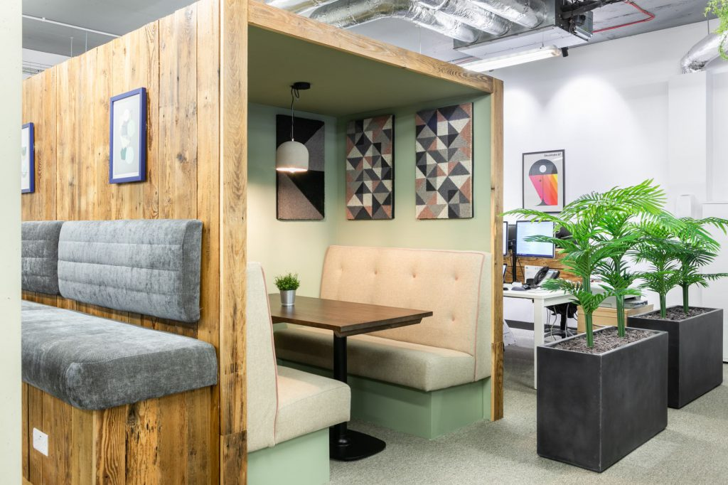 Moneypenny workhub meeting pod near Old Street