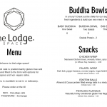 The lodge Menu 1