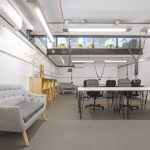 Launch22 fixed desks area in Poplar