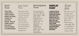 Font guidelines