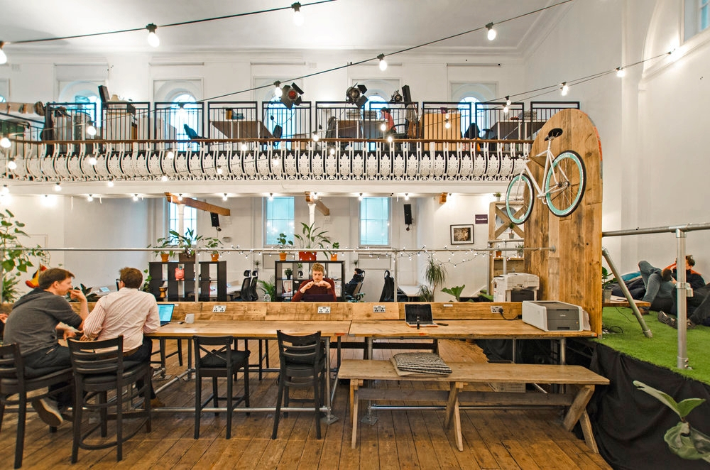Only Connect King's Cross coworking space in the communal hall