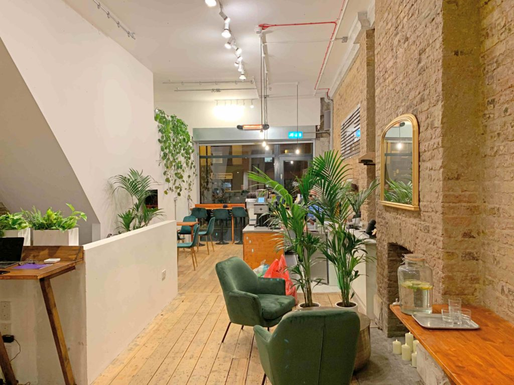 Cobalance cafe coworking space in Shoreditch