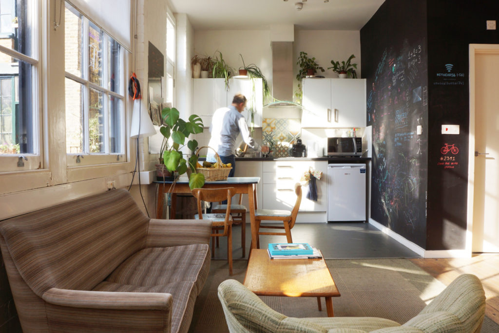 Winkley Studios kitchen & rest area