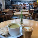 Grow Hackney latte & soup