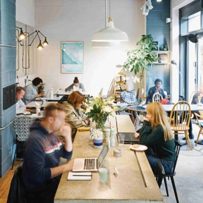 Signorelli East Village free coworking cafe in Stratford