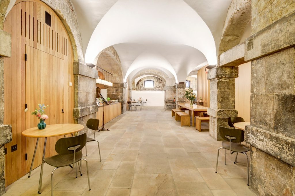 Cafe in the Crypt free hot desk in Shoreditch