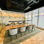 Whitechapel Think Factory hot desking table for flexible coworking