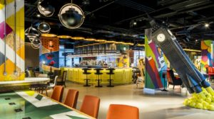 nhow hotel innovative free workspace in Old Street