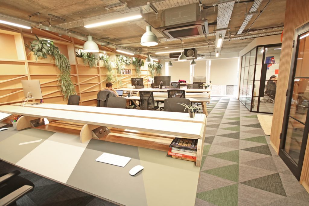 Mainyard Studio Leyton coworking area