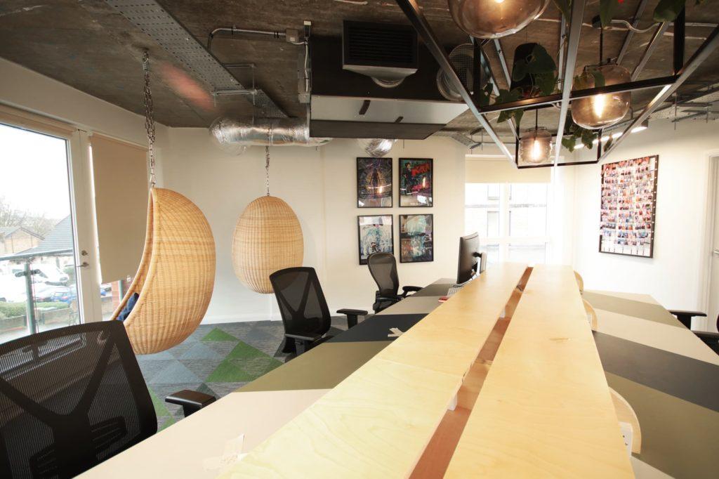 Mainyard Studio Leyton hot desking area