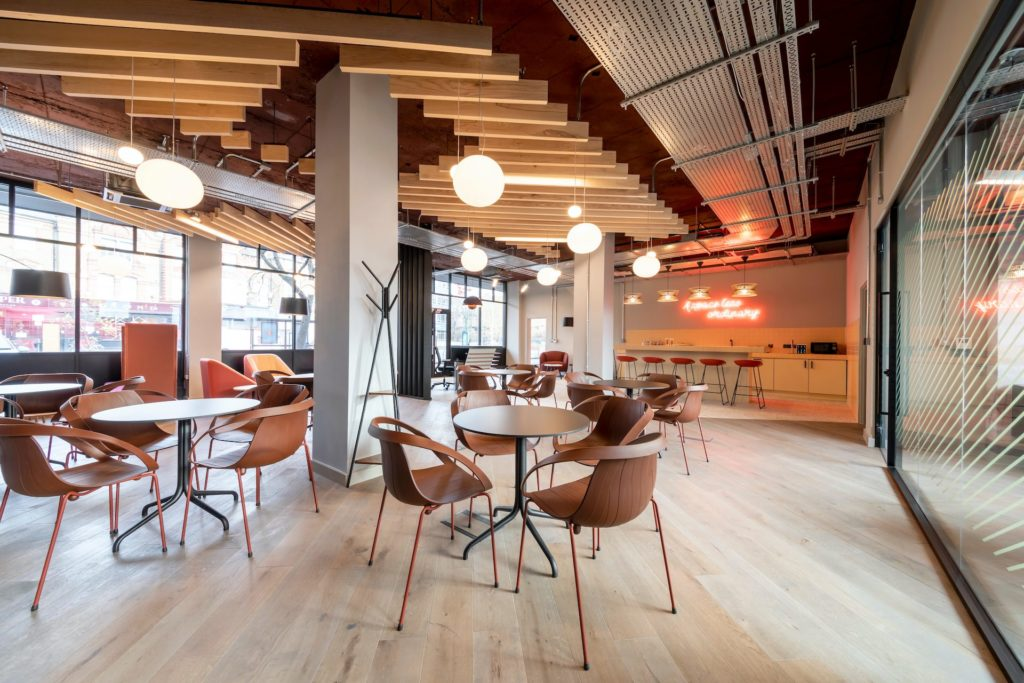 Boutique Workplace Ealing members coworking lounge