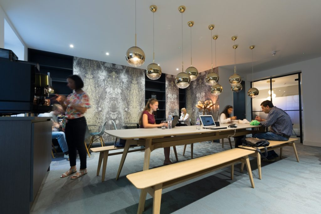 Boutique Workplace Soho Square breakout area