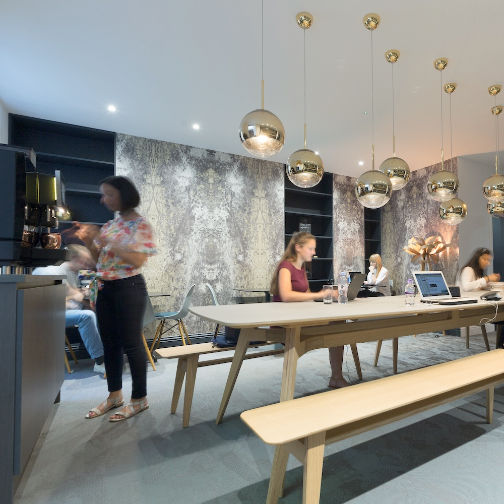 Boutique Workplace Soho Square members co-working lounge