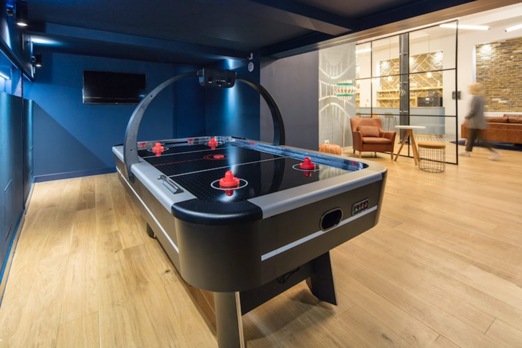Boutique workplace co-working games room