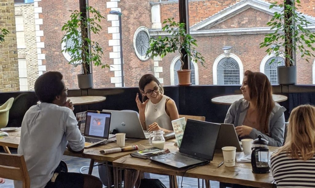 Co-working space for WeCoffee members. A workspace with people around, to make remote working more exciting