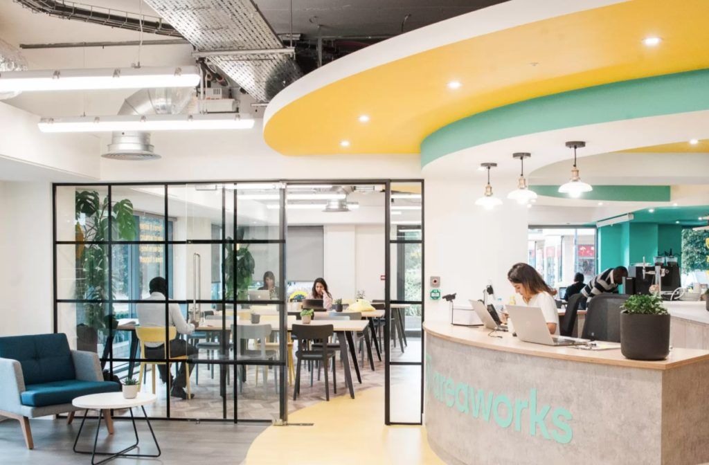 Areaworks Colindale hot desks for freelance, entrepreneurs & remote workers in Colindale and near Edgware Road