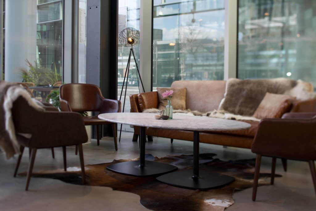 The Refinery Regents Place Sofa area for freelancers and remote workers