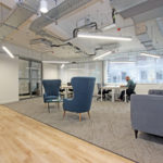 Areaworks Farringdon coworking space and dedicated desks area