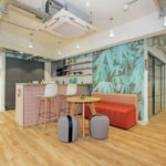 Areaworks Farringdon coworking space and kitchen area