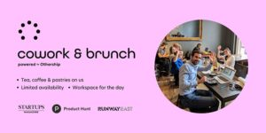 Cowork & Brunch Banner - an IRL (in real life) networking event for Freelancers, Founders and Digital Nomads
