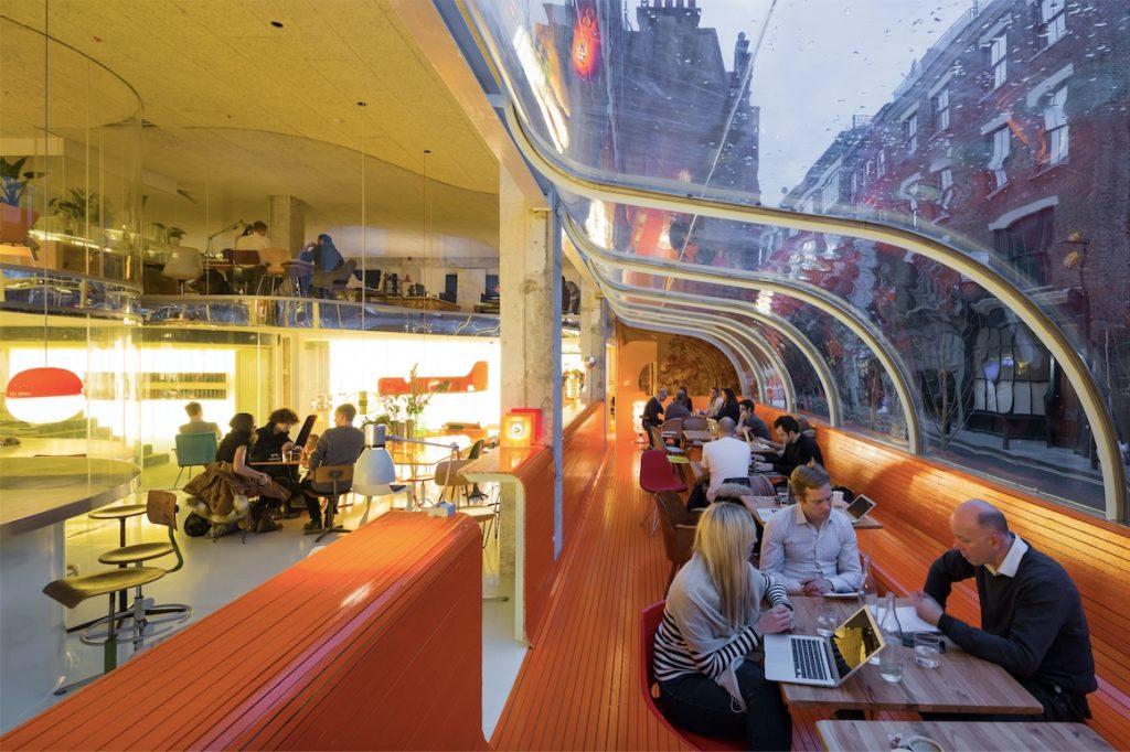 Second Home Spitalfields flexible co-working area