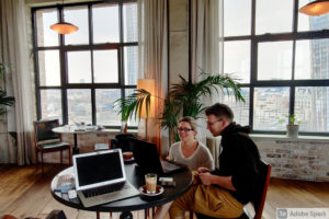 Othership team working from The Hoxton Hotel in Blackfriars